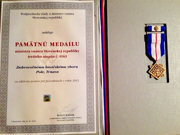 Commemorative Medal for active assistance during the floods in 2013