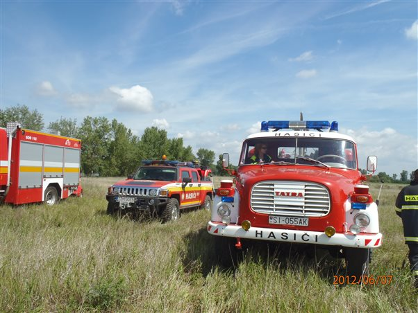 Exercise focused on forest fires in Kopčany
