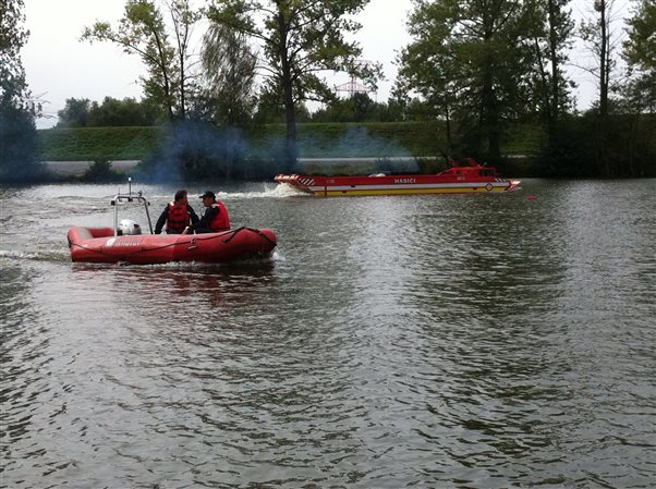 Practical training in amphibious transporter PTS-10 driving