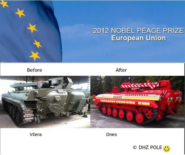 Európska únia získala Nobelovu cenu mieru