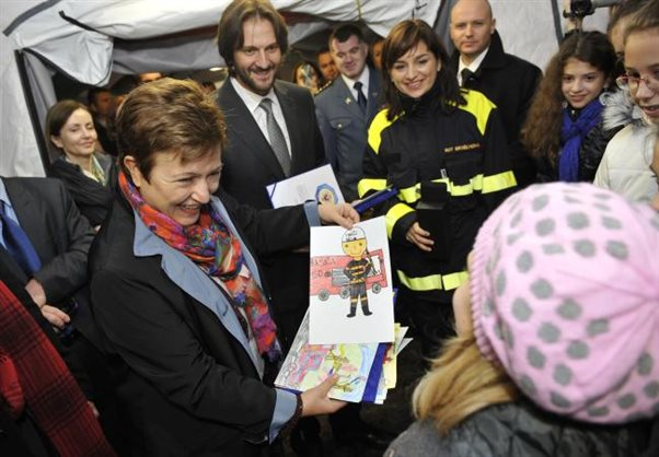 EU Commissioner Kristalina Georgieva in Bratislava and in DHZ POLE today