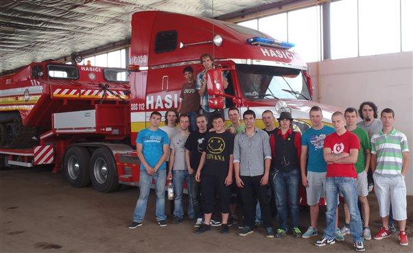 Stredná škola požiarnej ochrany Žilina na návšteve u nás